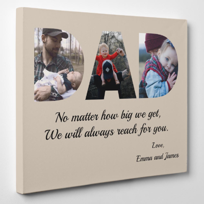 Father's Day Canvas Wrap