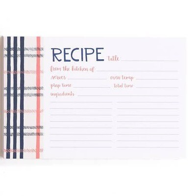 Fireside Plaid Recipe Cards