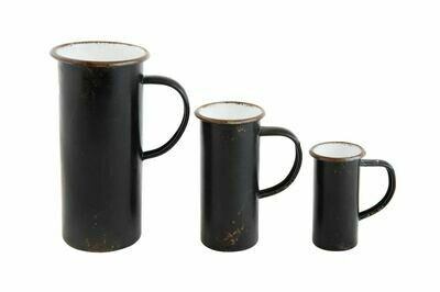 Black Decorative Pitcher Set