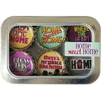 Designer Bottle Cap Magnets Home Sweet Home