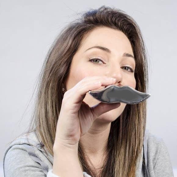 Mustache Pocket Flask