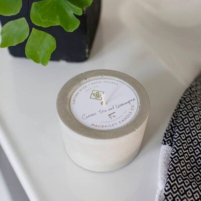 Concrete Candle 8oz- Green Tea & Lemongrass
