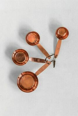 Copper Finish Metal Measuring Cups