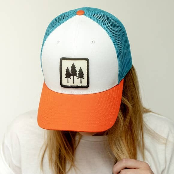 Colorful Three Tree Trucker Hat