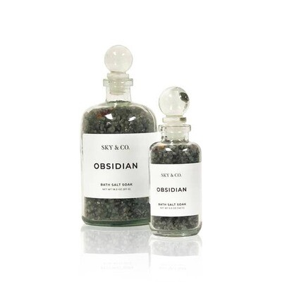 Obsidian Bath Salt Soak- 5oz- Sky And Company