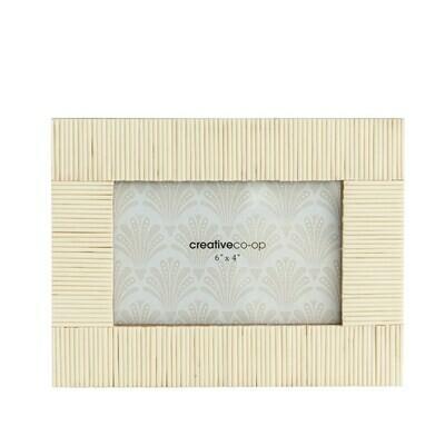 White Textured Resin 4x6 Photo Frame