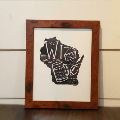 Framed Wisconsin Print