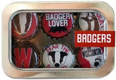 Wisconsin Proud Designer Bottle Cap Magnets Badgers