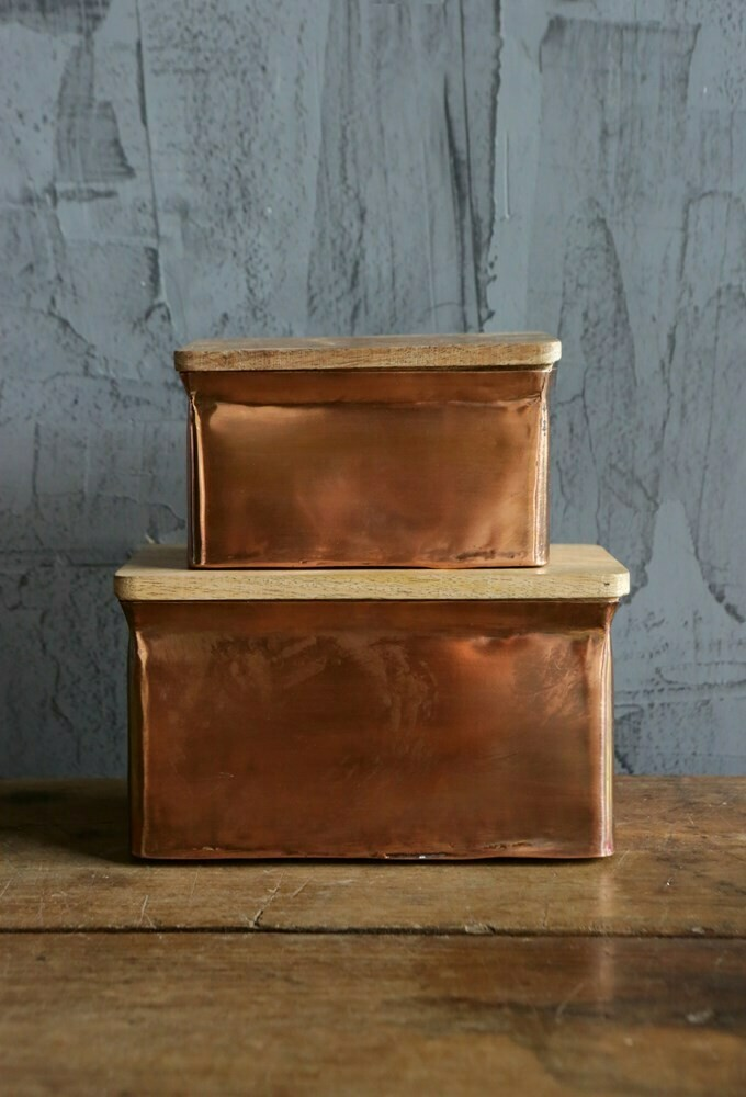 Copper Box w/ Mango Wood Lid 4
