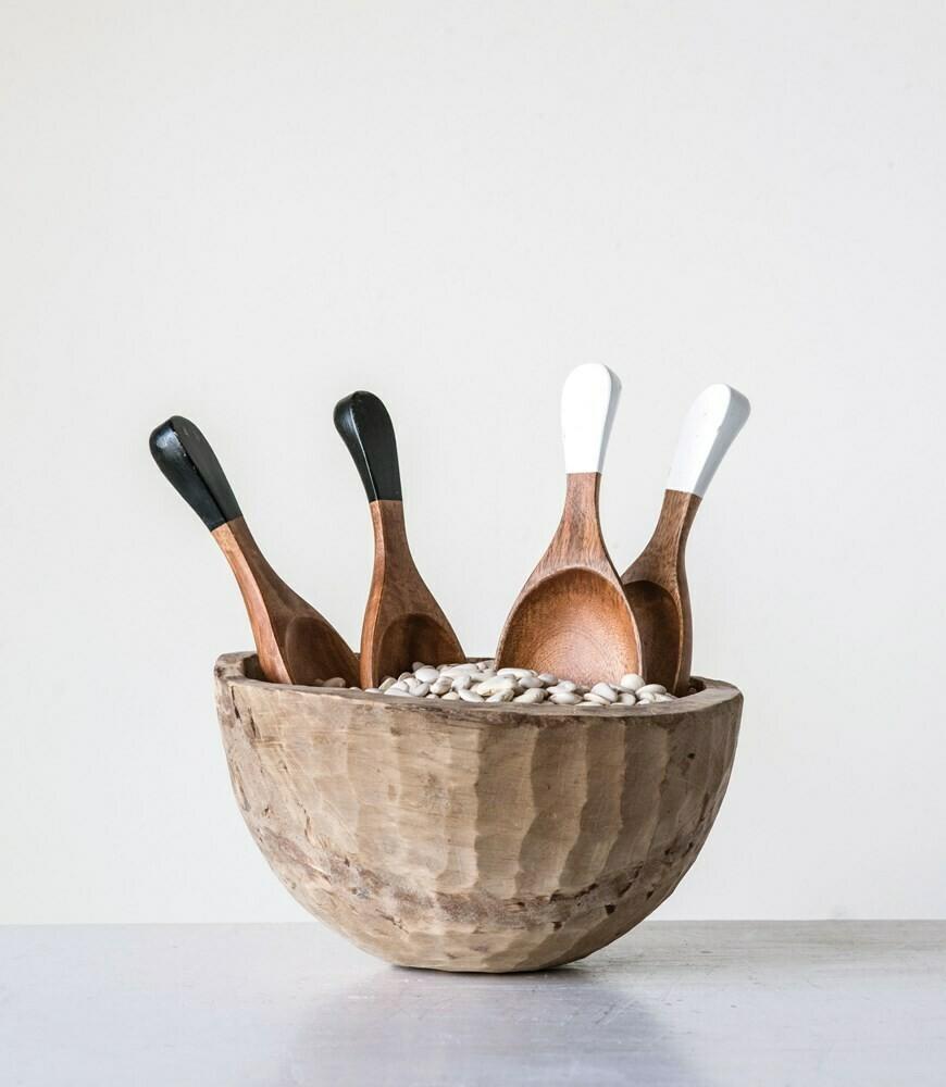 Hand Carved Wooden Salad Servers