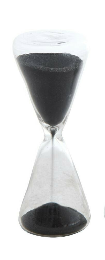 Black Sand Decorative Hourglass