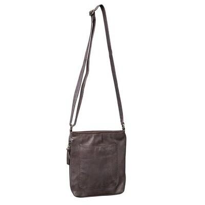 Leather Crossbody- Chocolate