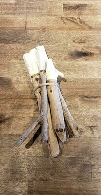 Dipped Driftwood Bundles White