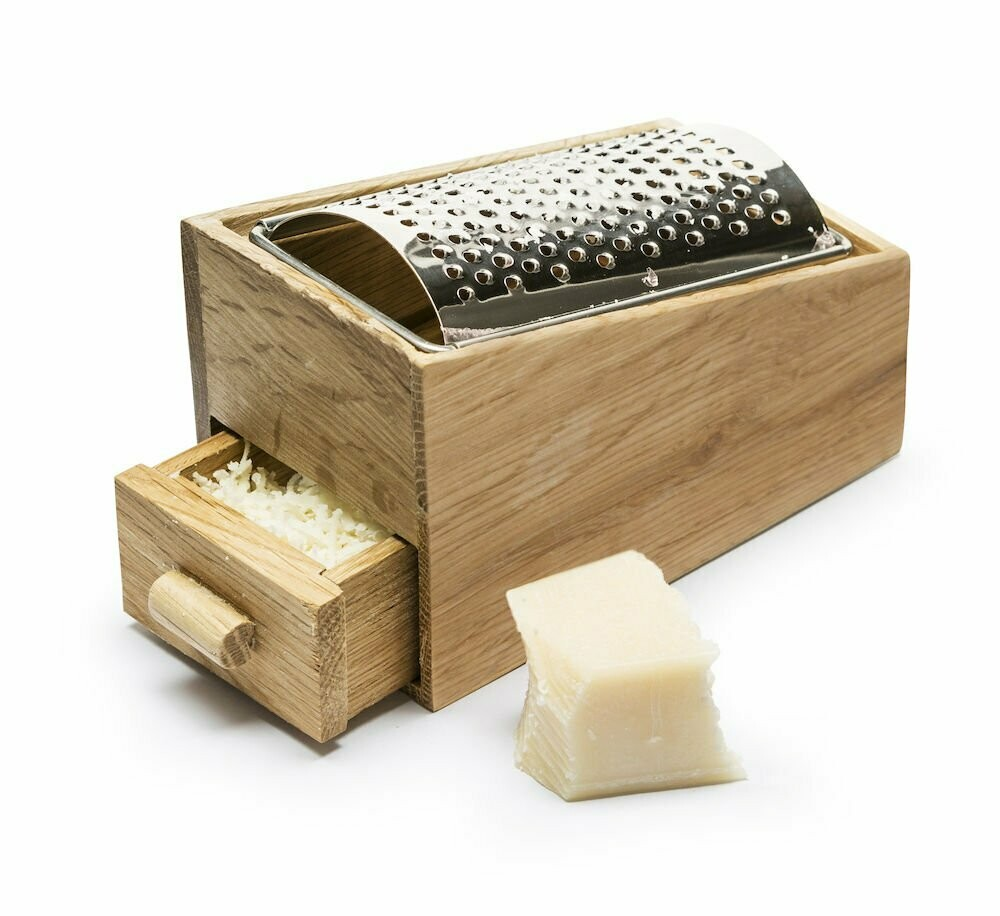 Oak Cheese Grater w/ Drawer
