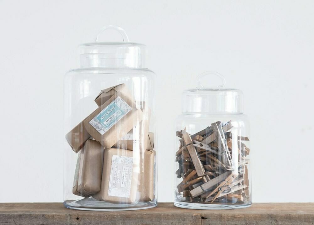Glass Storage Pot w/ Lid