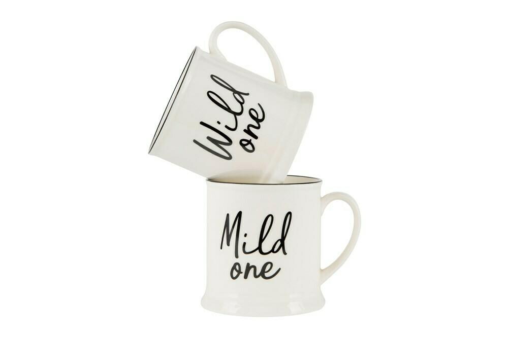 14oz Stoneware Mug w/ Sayings