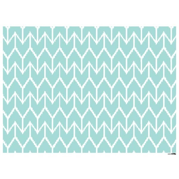 Ikat Patterned Paper Placemats