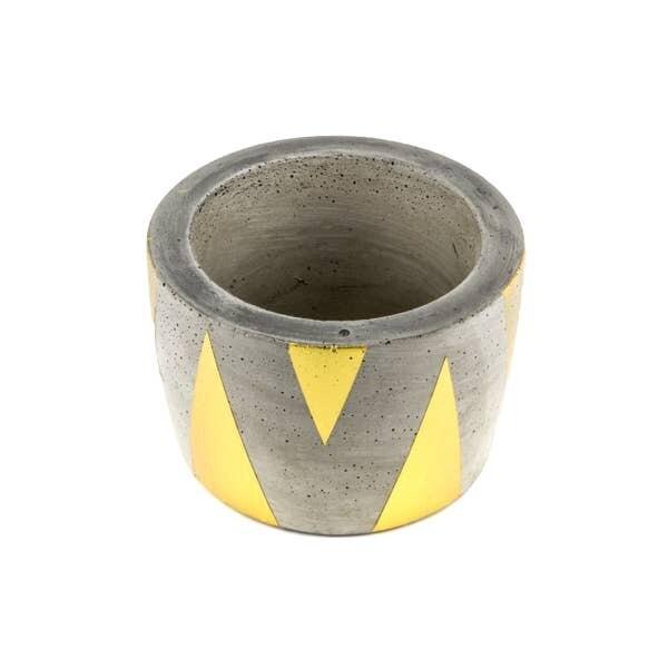 Gold Triangle Concrete Planter