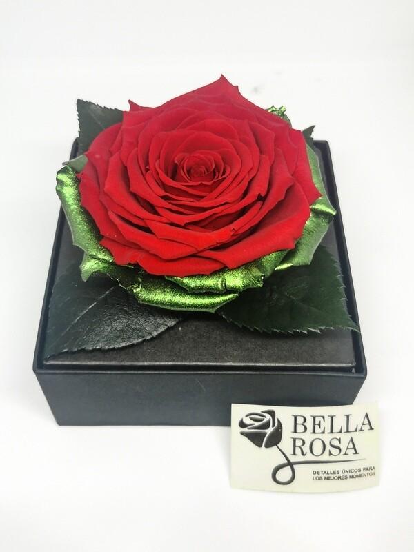 Rosa Preservada Roja en Caja Acrílica