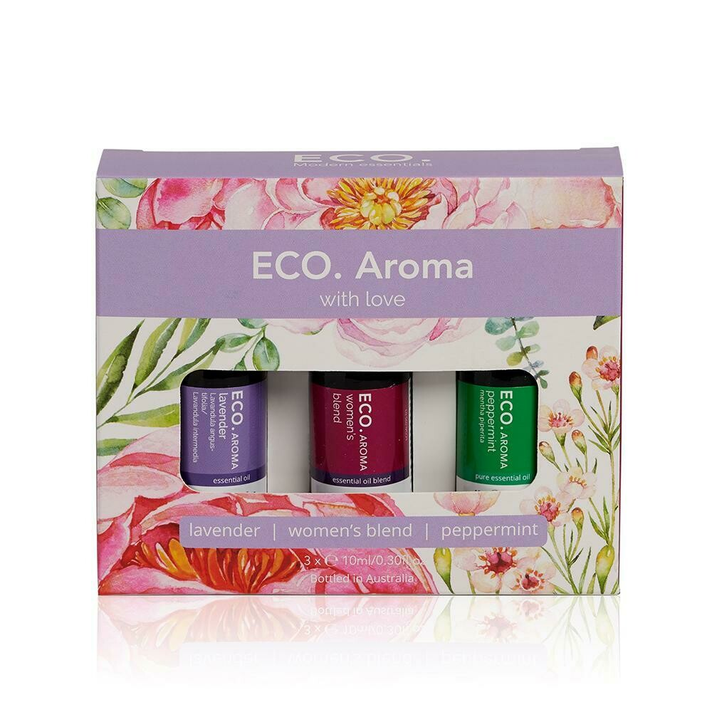 ECO. With Love Aroma Trio (Peppermint, Lavender, Womens Blend)