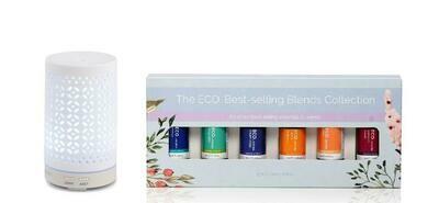 Mistique Diffuser & ECO. Best Selling Blends Starter Pack