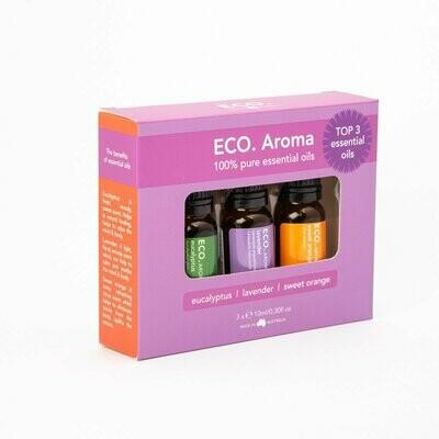 ECO. Aroma Top 3 Trio (Lavender, Eucalyptus, Sweet Orange)
