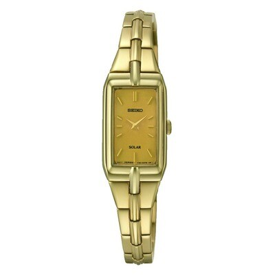 Seiko SUP276P9 Ladies Solar Quartz Plated Watch