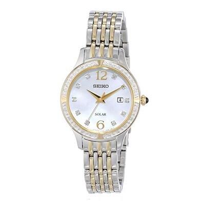 Seiko SUT092 Ladies Solar Quartz Bi-Colour Bracelet Watch