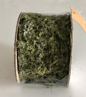 Glittered Moss Roll