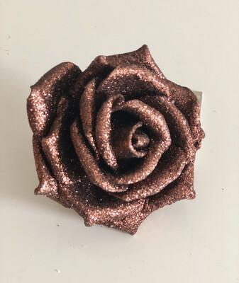 Dark Copper Rose on Clip