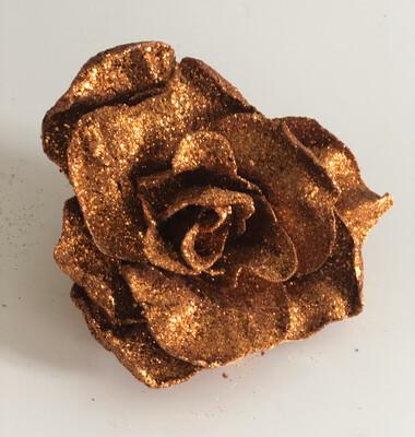 Large Copper Rose on Clip