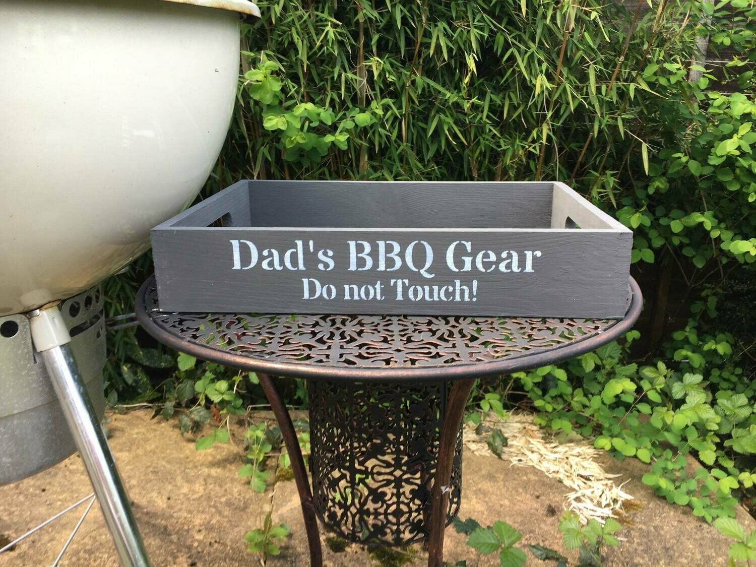 Dad's BBQ Gear Fathers Day gift decorative shabby chic wooden tray  Free UK P&P