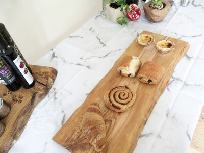 Different size Live edge bespoke Olive wood medium platter serving board