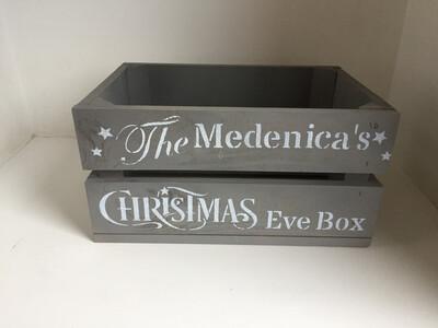 Small Christmas Eve Box Christmas Hamper crate