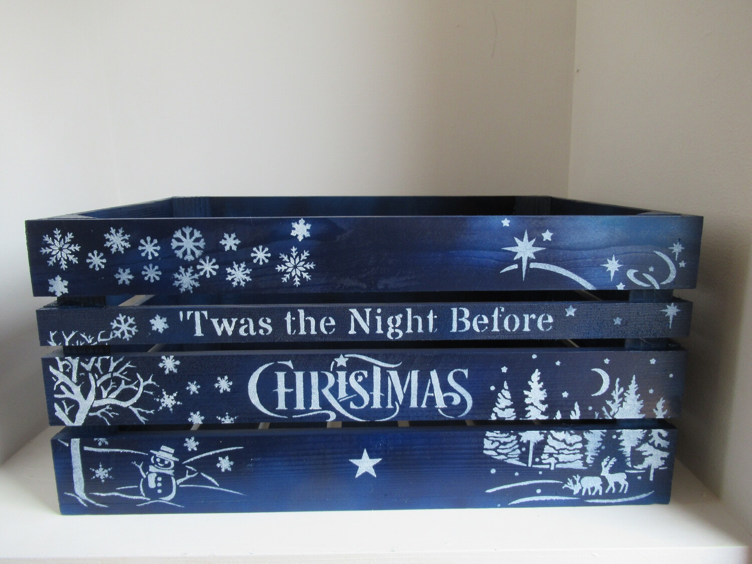 Twas the Night Before Christmas Personalised Large Christmas Crate