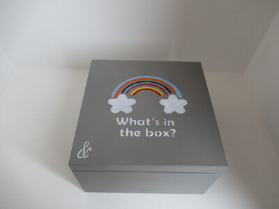 Personalised special box, secret treasures Memory Box Bespoke Childrens Gift Square Lid Box