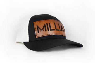 Millia Snapback Hat | Brown Leather