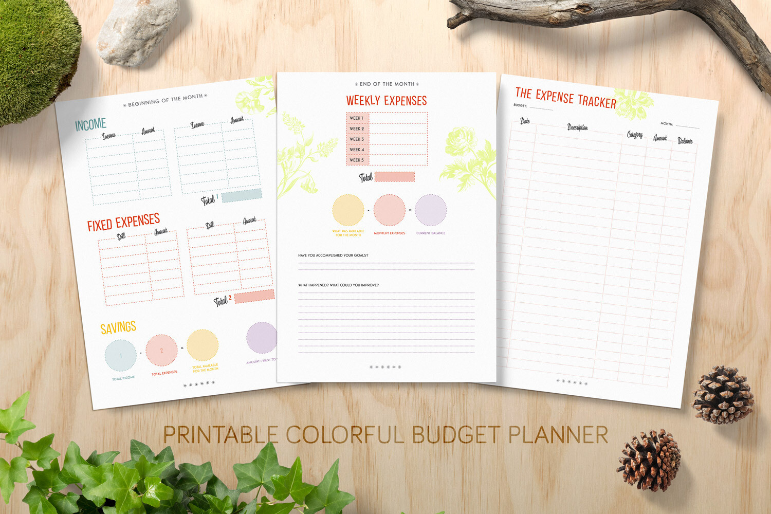 Budget Planner Printable Bundle