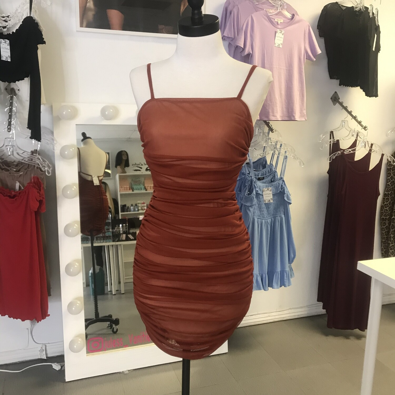 Auburn mini dress