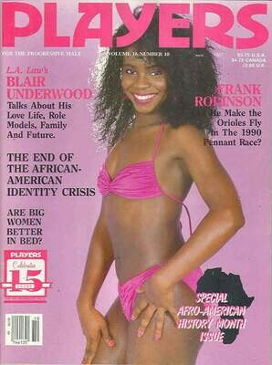 Players Magazine V16N10 March 1990 Beautiful Ebony Women