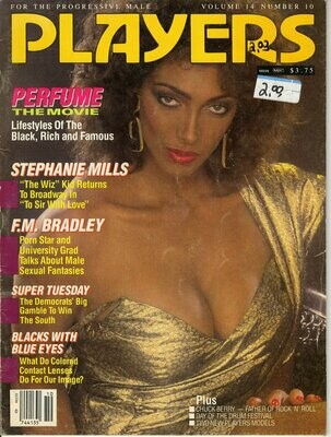 Players Busty Adult Magazine Stephanie Mills Vol.14 #10 March 1988