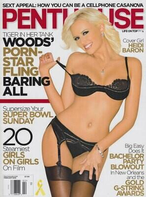 Vintage Penthouse Magazine Back Issue February 2010