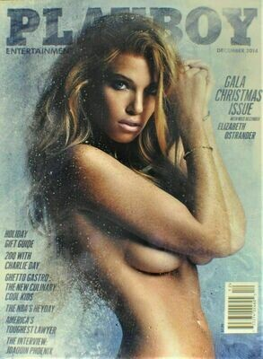 Playboy Magazine December 2014 Gala Christmas Issue Elizabeth Ostrander