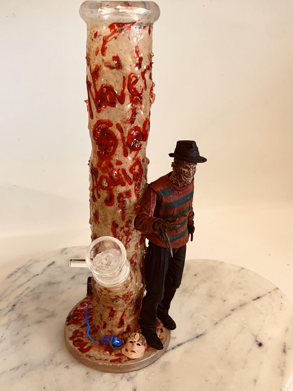 Nightmare On Elm Street Water Pipe Art