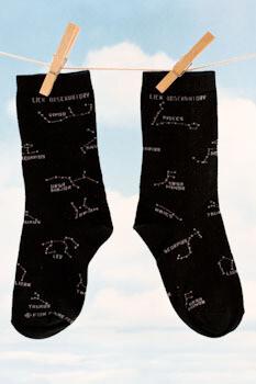 Lick Observatory Constellations Sock, Black