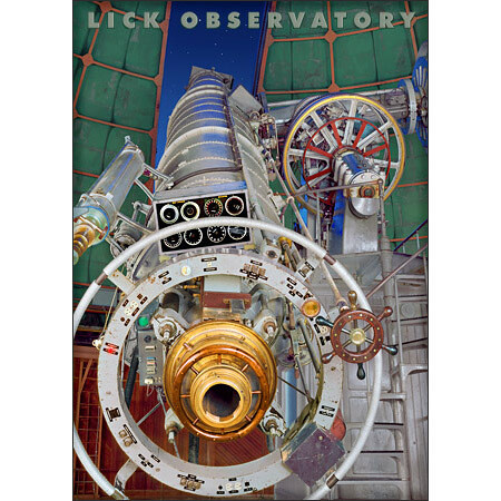 Lick Observatory Great Lick Refractor Magnet