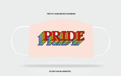 Pink Rainbow Pride Mask