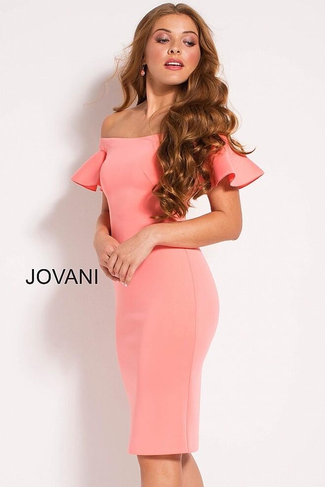 Jovani  Cocktail Dress In Coral