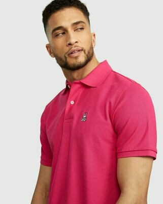 Psycho Bunny Mens Classic Polo - anemone