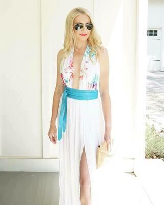 Ada Wrap Belt in Turquoise